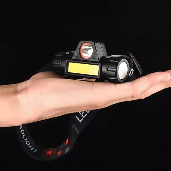 工具燈 頭燈 LED燈 磁吸式 維修燈 緊急照明 露營 USB充電式 迷你 強磁充電頭燈【M073】米菈生活館