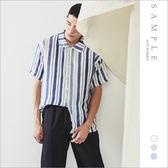 現貨 韓國製 短袖襯衫 漸層雪紡【ST20343】- SAMPLE