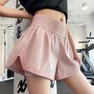 速乾運動褲 高檔運動短褲女夏跑步寬鬆高彈力瑜伽褲透氣高腰健身褲女
