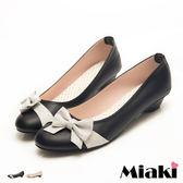 娃娃鞋可愛蝴蝶緞面低跟包鞋