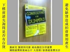 二手書博民逛書店CONSULTING罕見FOR DUMMIESY21714