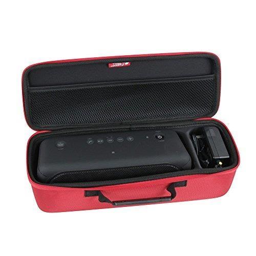 【美國代購】Hermitshell硬殼EVA旅行紅色外殼適合索尼XB40便攜式無線揚聲器藍牙 適充電器 紅