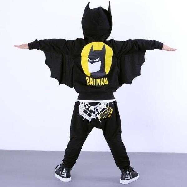 萬圣節服裝男童套裝演出服小孩子蝙蝠俠cosplay化妝舞會衣服