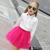 半身裙  童裝女童蓬蓬裙半身裙寶寶紗裙春夏舞蹈裙網紗裙兒童短裙子 寶貝計畫