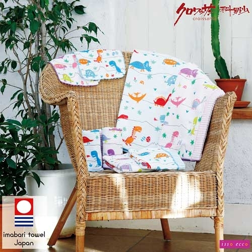 【クロワッサン科羅沙】日本ISSO ECCO今治(imabari towel)~棉紗恐龍世界毛巾