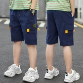 男童短褲 男童短褲中大童2020新款中褲兒童夏季七分褲夏裝男孩外穿五分褲潮 源治良品
