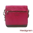 Backbager 背包族【比利時Hedgren】HGA Great American系列 方型 側背包 桃紅/ 軍綠色