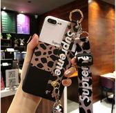 【大發】iPhone 7 8 Plus 6s 6Plus 手機殼 豹紋掛繩軟殼 包邊防摔防撞 附長短掛繩 腕帶手機軟殼 斜跨