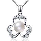 項鍊 925純銀珍珠吊墜-素雅精緻生日情人節禮物女飾品73fy74【時尚巴黎】