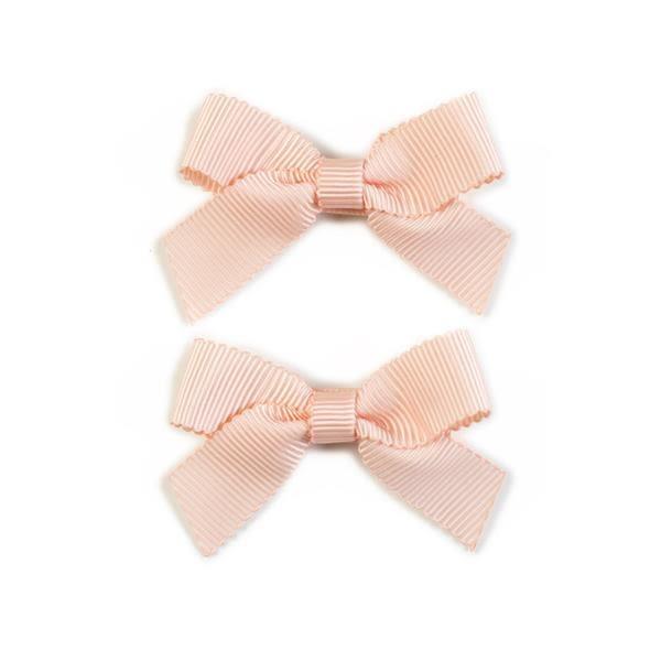 美國 Ribbies Clippies 經典蝴蝶結2入組-甜桃