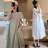 孕婦夏裝裙子孕婦連身裙夏季小清新上衣【Kacey Devlin】