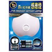 3IN1 紅外線感應燈電池型 白光