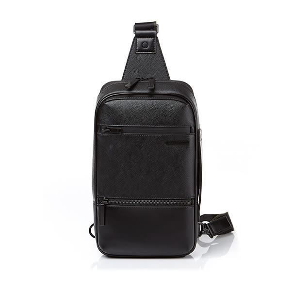 Samsonite RED 新秀麗 2018新款 HANFOI 潮流造型 皮革 肩背包/斜肩包/胸包-10吋(黑)