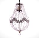 電鍍古銅鐵花邊透明壓克力珠吊燈-BNL00024