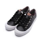 KEDS CREW KICK 蘇格蘭紋撞色皮革休閒鞋 黑 9203W123109 女鞋