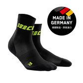 CEP 超輕量-運動壓縮短襪-黑綠 ( 男/女 )WP4BLC/WP5BLC