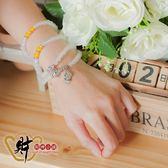 絕美佳人-108珠白瑪瑙貔貅手鍊《含開光》財神小舖【ES-5106】美麗幸福、吉祥富貴