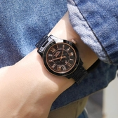 NATURALLY JOJO / JO96947-88R / 氣質典雅 菱格時尚 藍寶石水晶玻璃 日期顯示 陶瓷手錶 黑色 36mm