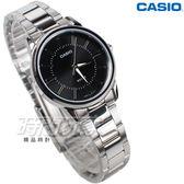 CASIO卡西歐 LTP-1303D-1A 自信魅力時尚典雅淑女錶 不銹鋼 黑色 LTP-1303D-1AVDF