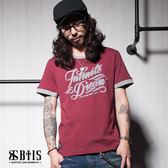 【BTIS】無限的夢想 圓領T-shirt / 酒紅色