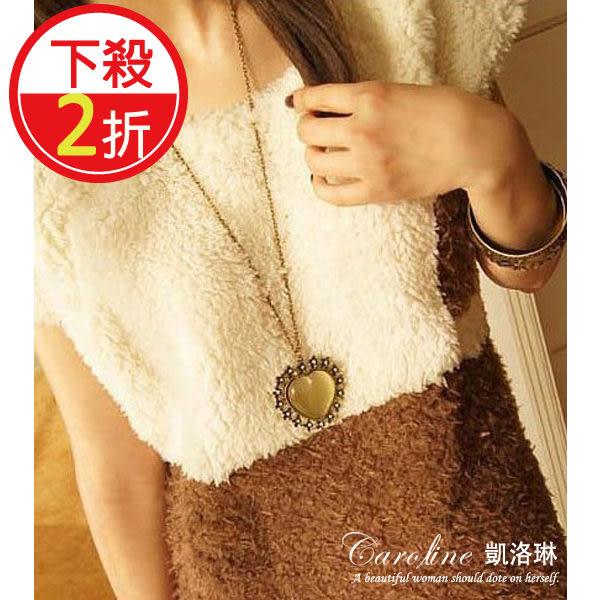 《Caroline》★【寶石愛心】質感、俏麗百分百.甜美魅力、迷人風采時尚長項鍊66697