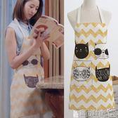 圍裙 圍裙酷貓創意簡約情侶無袖做飯女圍腰廚師罩衣 寶貝計畫
