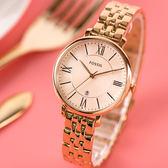 FOSSIL Jacqueline 羅馬時刻玫瑰金時尚腕錶 ES3435 熱賣中!