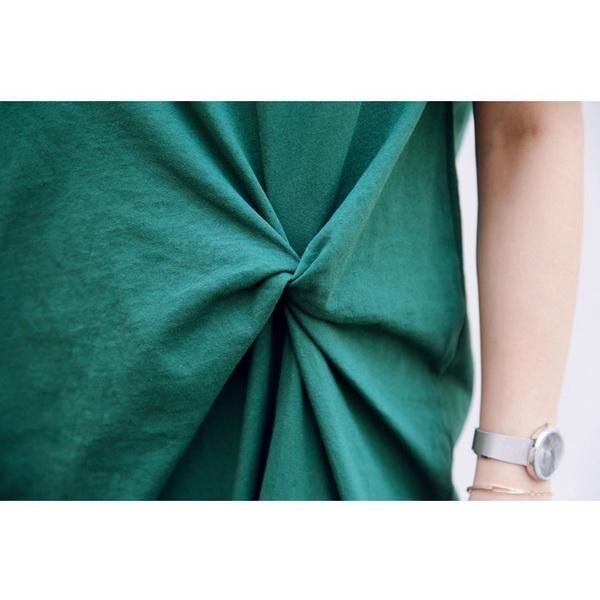 個性扭結純色長版衣 兩色【CQH911714】孕味十足