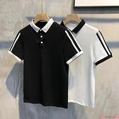 短袖polo衫社會小伙短袖翻領男t恤精神修身半袖小衫快手紅人網紅同款polo衫  芊墨左岸 上新