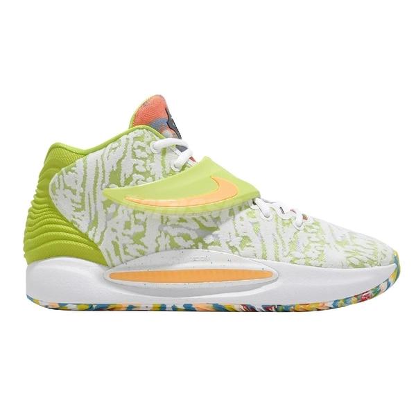 Nike 籃球鞋 KD14 EP Cyber Kevin Durant 杜蘭特 綠 白 綁帶 男鞋【ACS】 CZ0170-101