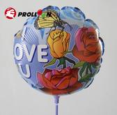 【大倫氣球】30cm 圓形吹氣鋁箔氣球(非空飄款) 附吹管兼氣球棒,樣式隨機,各式PARTY 婚禮小物