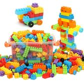 兒童積木塑料寶寶拼裝拼插玩具益智男孩【極簡生活館】