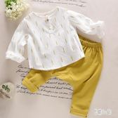 男童棉麻長袖兩件式套裝寶寶嬰兒春秋款衣服 CJ2682『易購3c館』