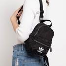 L-adidas Mini Backpack 黑 白 女男 迷你包 運動 休閒 三葉 實用 小巧 後背包 ED5869