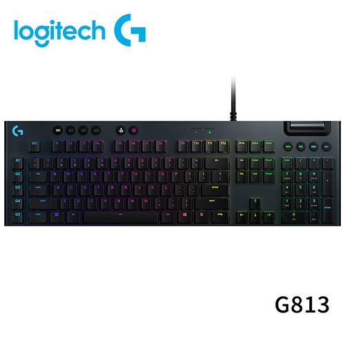 【限時至0630】 Logitech 羅技 G813 LIGHTSYNC RGB 機械式 電競 鍵盤 GL 敲擊感軸