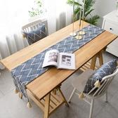 簡約桌旗茶幾餐桌布藝裝飾長方形鞋櫃蓋布北歐【聚可愛】