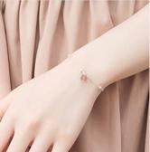 手鍊 純銀森繫古風草莓晶閨蜜信物姐妹一對手鍊女學生簡約小眾設計ins