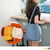 《YA300》簡約皮革可調背帶肩背包(母子包 OrangeBear