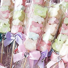婚禮小物 250枝小熊花園棉花糖--贈玫瑰小提籃1個-送客/活動禮/迎賓 幸福朵朵