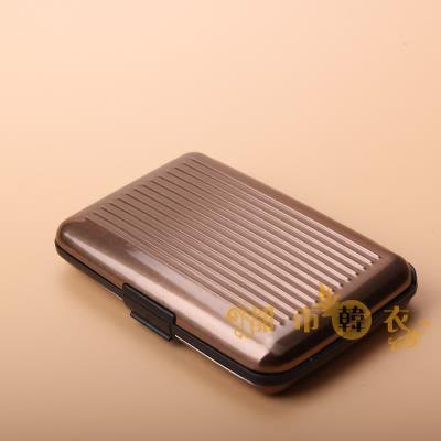 手拿包 金屬防消磁防RFID/NFC信息盜刷卡包男防水錢包女錢夾名片盒