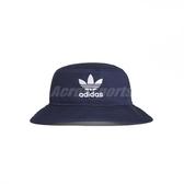 adidas 帽子 Adicolor Bucket Hat 藍 白 男女款 漁夫帽 運動休閒 【PUMP306】 ED9384