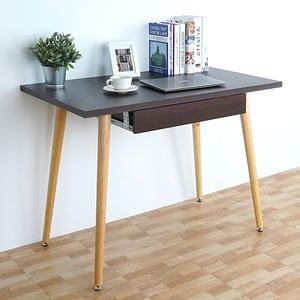 Homelike 哈曼北歐風附抽書桌(胡桃色)