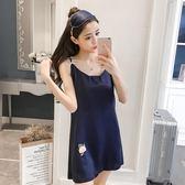 【萬聖節促銷】睡衣女夏季棉質吊帶睡裙女夏季甜美可愛冰絲洋裝正韓學生清新無袖