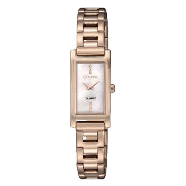 CITIZEN 星辰手錶專賣店 EZ6368-82D 簡約方形石英女錶 防水30米 珍珠貝錶面 全新 保固一年