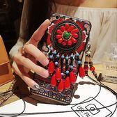 復古圖騰民族風iphone7plus手機殼 奢華防摔掛繩 BS21601『夢幻家居』