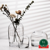 客廳餐桌家居鮮花插花瓶工藝品花瓶創意玻璃花器【福喜行】