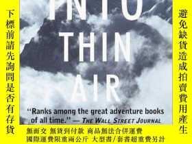 二手書博民逛書店Into罕見Thin Air:A Personal Account of the Mt. Everest Disa