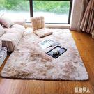 雜染漸變色客廳地毯茶幾地毯時尚個性長毛可水洗臥室飄窗毯 PA7563『紅袖伊人』