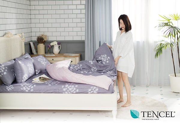 快速出貨【LORIA洛莉亞】超便宜平價天絲TENCEL天絲四件式床包組~標準雙人【維也納】
