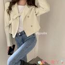 西裝外套 設計感短款西裝外套女2021年秋季新款韓版寬鬆氣質長袖小西服上衣 愛丫 免運